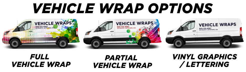 Lakewood Vehicle Wraps vehicle wrap options