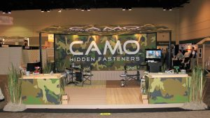 custom tradeshow display with awning
