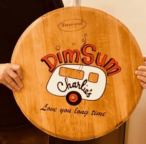 custom barrel top sign